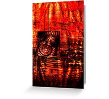 Evolution - Ammonite in Red  Greeting Card