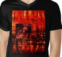 Evolution - Ammonite in Red  Mens V-Neck T-Shirt
