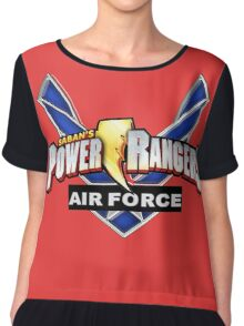 mighty mhorpin power rangers air force Chiffon Top