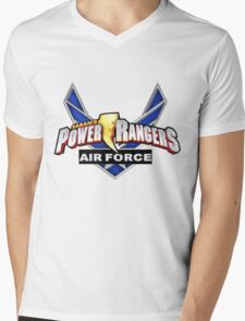 mighty mhorpin power rangers air force Mens V-Neck T-Shirt