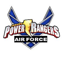 mighty mhorpin power rangers air force Photographic Print