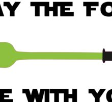 May The Fork Be With You Sticker