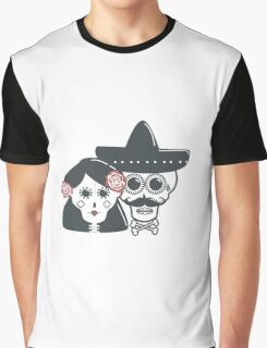 The skeleton wife and husband Graphic T-Shirt