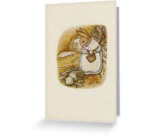 Vintage famous art - Beatrix Potter - Peter Rabbit, 1902 Greeting Card