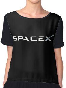 Space X white Chiffon Top