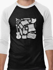 playtime (b&w) 2 Men's Baseball ¾ T-Shirt