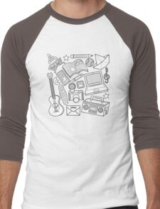 playtime (b&w) 2 Men's Baseball ¾ T-Shirt