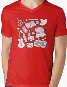 playtime (b&w) 2 Mens V-Neck T-Shirt