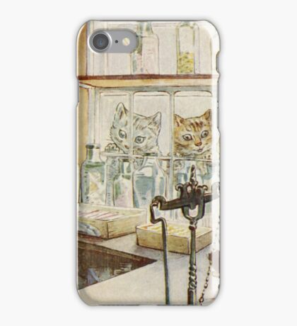 Vintage famous art - Beatrix Potter - Tale Of Ginger And Pickles, 1909 iPhone Case/Skin