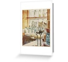 Vintage famous art - Beatrix Potter - Tale Of Ginger And Pickles, 1909 Greeting Card