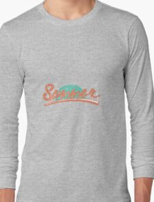 Word summer with ribbon or type  Long Sleeve T-Shirt