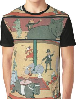 Vintage famous art - Benjamin Rabier - Animal Circus  Graphic T-Shirt