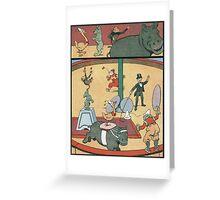 Vintage famous art - Benjamin Rabier - Animal Circus  Greeting Card