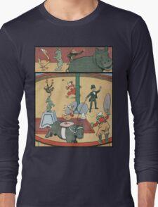 Vintage famous art - Benjamin Rabier - Animal Circus  Long Sleeve T-Shirt