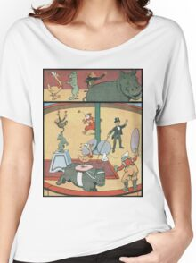 Vintage famous art - Benjamin Rabier - Animal Circus  Women's Relaxed Fit T-Shirt