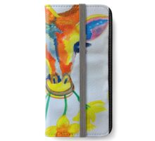 Giraffe daffodil fields  iPhone Wallet/Case/Skin