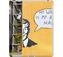 Bright graffiti in Lucca, Italy iPad Case/Skin