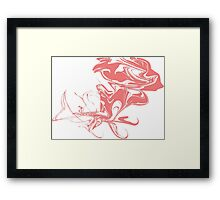 Ink marble texture. Framed Print