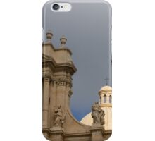 A Well Placed Ray of Sunshine - Noto Cathedral Saint Nicholas of Myra Against a Cloudy Sky iPhone Case/Skin