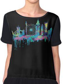 Inky London Skyline Women's Chiffon Top