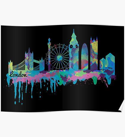 Inky London Skyline Poster