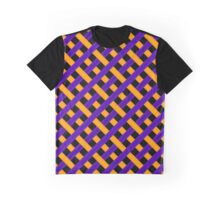 Purple and Gold Pattern Graphic T-Shirt