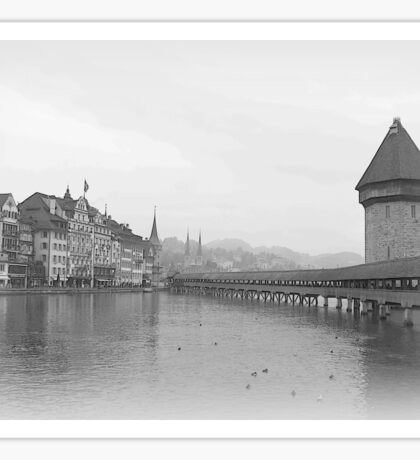 Kapellbrucke in Lucerne Sticker