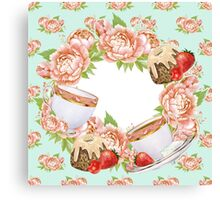 Tea Party Floral Canvas Print