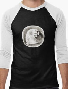 Snowy Owl in a Cylinder Men's Baseball ¾ T-Shirt