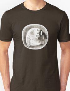 Snowy Owl in a Cylinder Unisex T-Shirt