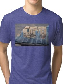Reflecting on Noto Cathedral Saint Nicholas of Myra - Sicily, Italy Tri-blend T-Shirt