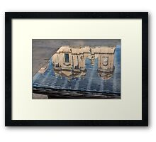 Reflecting on Noto Cathedral Saint Nicholas of Myra - Sicily, Italy Framed Print