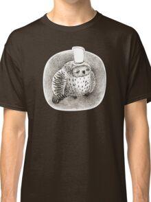 Sleeping Grey Owl In a Cylinder Classic T-Shirt
