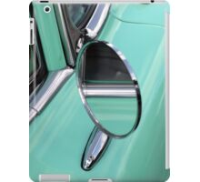 Mirror of a classic car in mint iPad Case/Skin