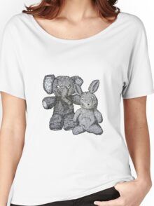 Ellie & Slightly Surprised Rabbit Women's Relaxed Fit T-Shirt