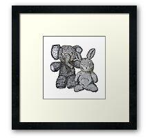 Ellie & Slightly Surprised Rabbit Framed Print