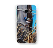 Blue wren Samsung Galaxy Case/Skin
