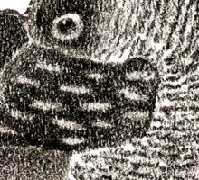 Lady Owl in a Retro Hat Sticker