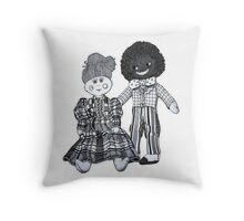 Jemima & Bobby ~ Soul Mates Throw Pillow