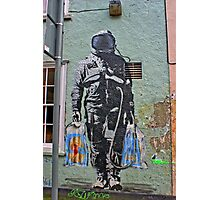 Astronaut Graffiti, Astronaut coming from shopping...with bags. Photographic Print