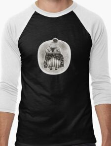 Baby Owl in a Funny Hat Men's Baseball ¾ T-Shirt