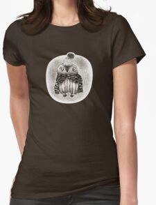 Baby Owl in a Funny Hat Womens Fitted T-Shirt