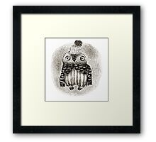 Baby Owl in a Funny Hat Framed Print
