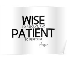 wise, patient - homer Poster