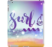 Surf lettering on a  defocus blurred summer background. iPad Case/Skin