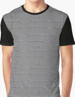 Grey arrow pattern  Graphic T-Shirt