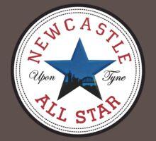 NEWCASTLE UPON TYNE STAR FEATURING TYNE BRIDGE Baby Tee