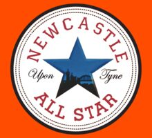 NEWCASTLE UPON TYNE STAR FEATURING TYNE BRIDGE Kids Tee