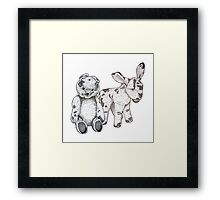 Ted & Donk ~ Firm Friends Framed Print