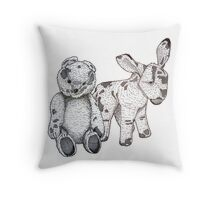 Ted & Donk ~ Firm Friends Throw Pillow